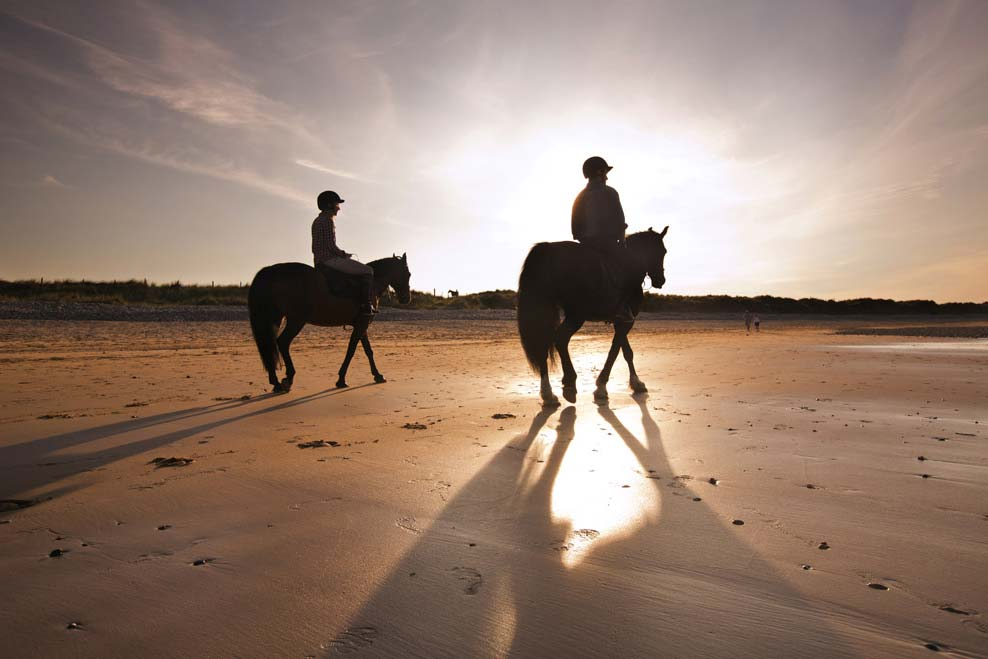 Horse riding at Tullagh Bay
